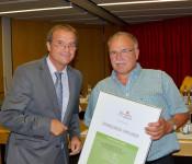 Oberbürgermeister Klaus Eberhardt und Ewald Lützelschwab