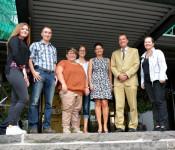Jasmin Benkö, Torsten Hampe, Larissa Spada, Angelina Graf, Hannelore Steinebrunner, Oberbürgermeister Klaus Eberhardt und Bürgermeisterin Diana Stöcker