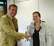 Oberbürgermeister Klaus Eberhardt und Bürgermeisterin Diana Stöcker
