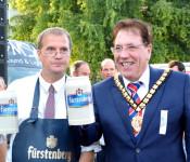 Oberbürgermeister Klaus Eberhardt und Councillor Neil Moore