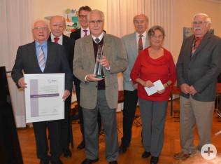 Übergabe der Bürgerpreis-Urkunde an den Schwarzwaldverein, Karsau