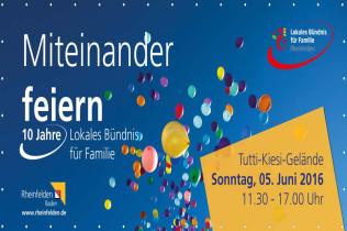 Das Lokale Bündnis für Familie feiert am 5. Juni sein 10-jähriges Jubiläum und alle sind eingeladen.
