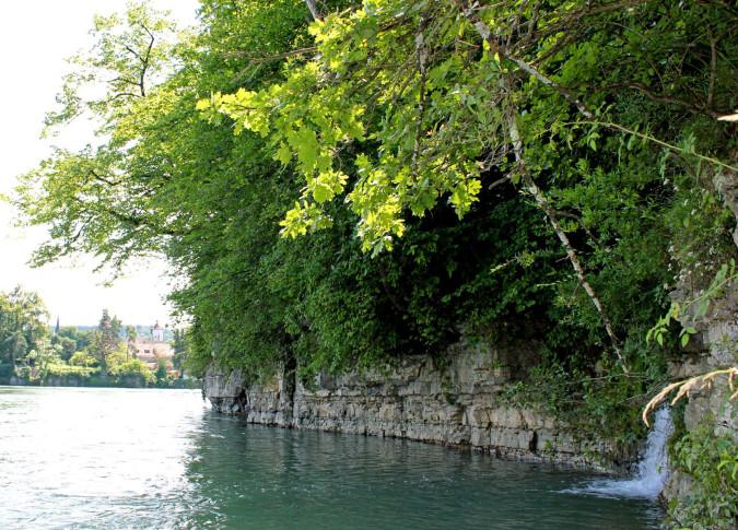 Blick auf den Rhein mit Höllhooge.