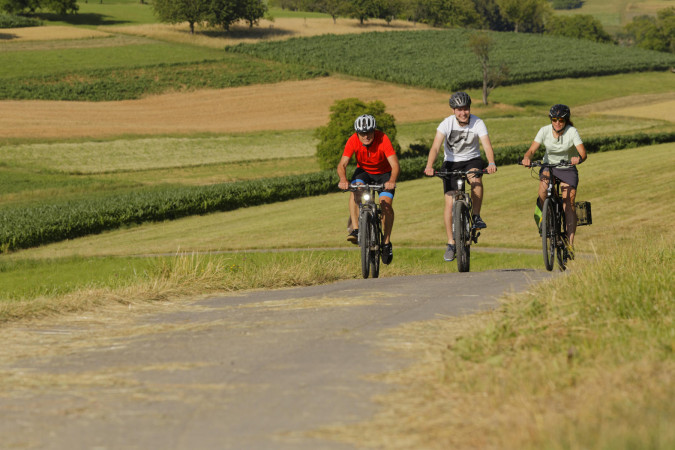Fahrradfahrer auf dem Dinkelberg