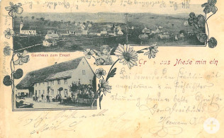 Postkarte Unterminseln um 1906