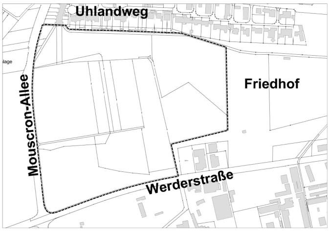 Abgrenzungsplan zum Bebauungsplan Karl-Metzger-Grube