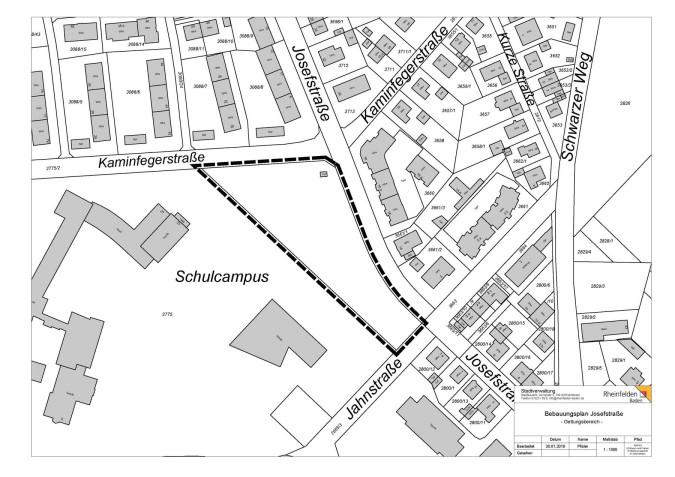 Geltungsbereich Bebauungsplan Josefstraße
