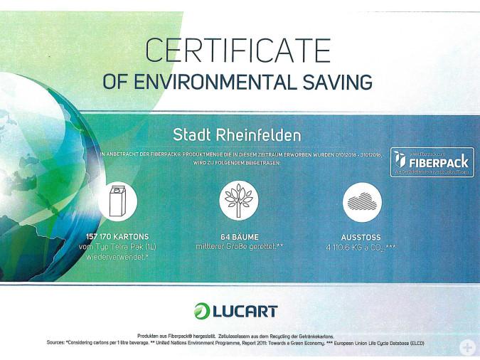 Kleiner Beitrag zum Klimaschutz durch Handtuch- und Toilettenpapier, das aus recycelten Getränkekisten hergestellt wird.
