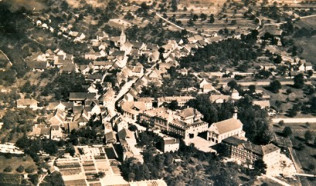 Luftaufnahme des Ortsteils Herten um 1940