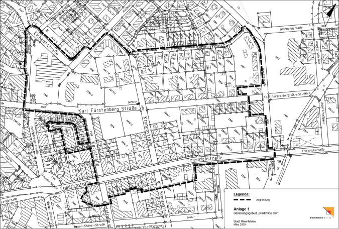 "Karte des Sanierungsgebiets ""Stadtmitte Ost"""