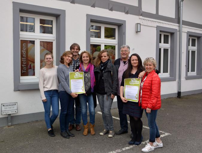 Freuen sich auf das Interkulturelle Hoffest (von links): Laura Gutmann, Stefanie Franosz, Günther Schmidt, Christine Tortomasi, Kerstin Meyer, Harald Höhn, Slavica Stanojevic und Heidi Kuder.