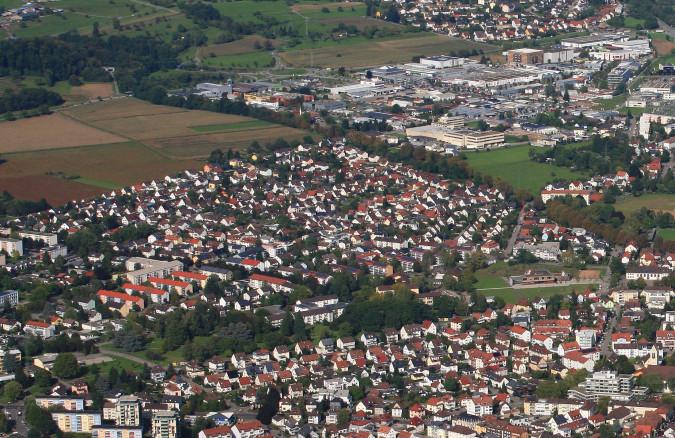 Luftbild der Siedlung von Erich Meyer