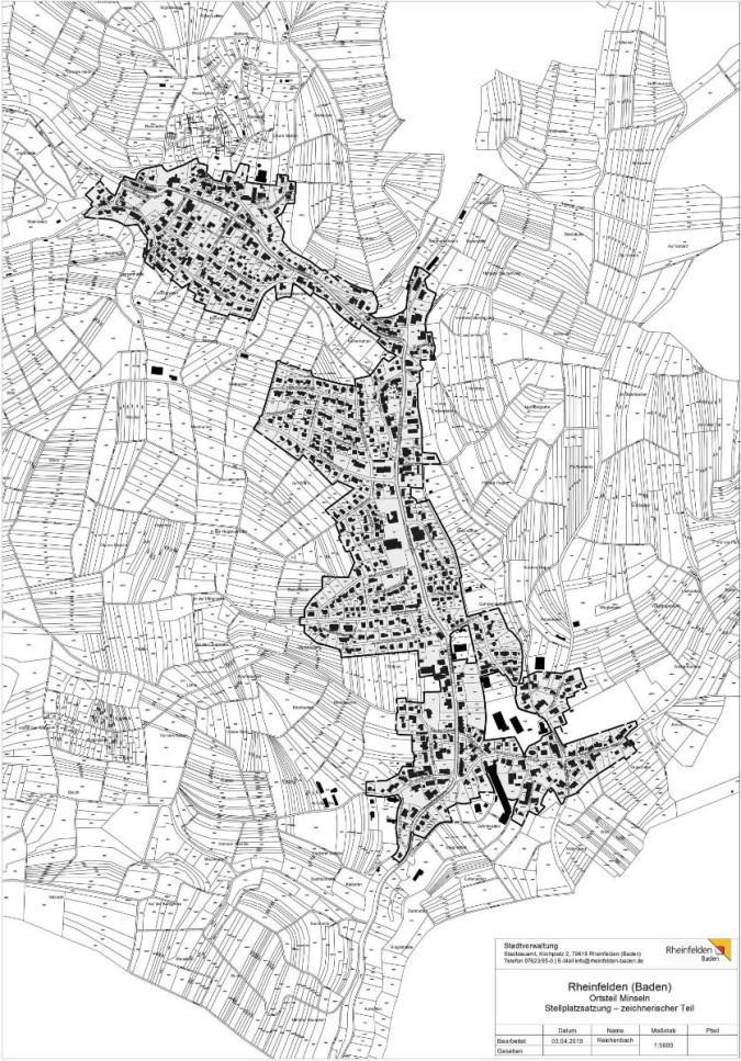 Stellplatzsatzung Minseln - Plan