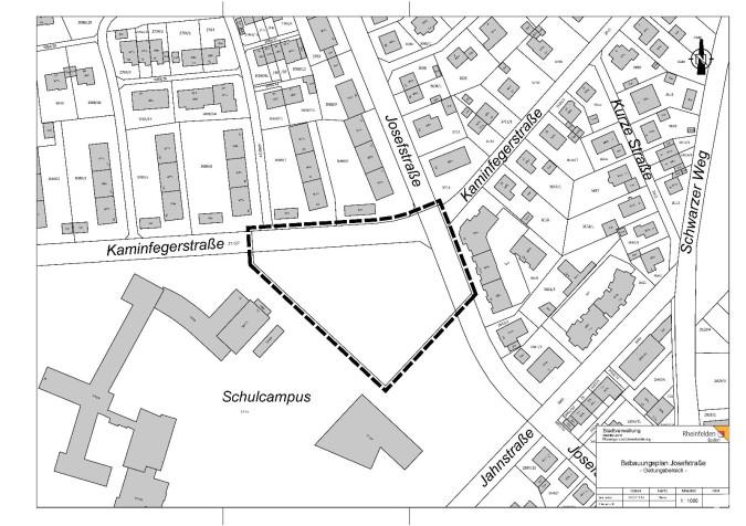 Abgrenzungsplan Bebauungsplan Josefstraße