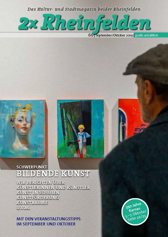 """Cover der September/Oktober-Ausgabe des Kultur- und Stadtmagazins """"2x Rheinfelden"""""""