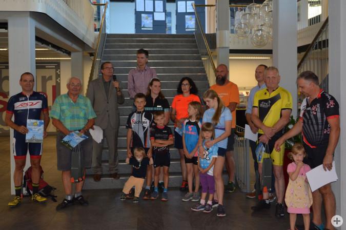 Kleine Abschlussfeier für die Stadtradler 2019 im Rathaus.