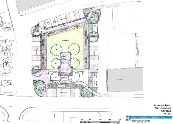 Skizze der geplanten Neugestaltung.