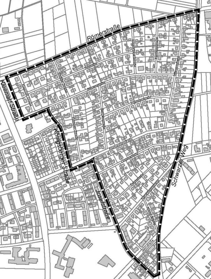 Lageplan Siedlung