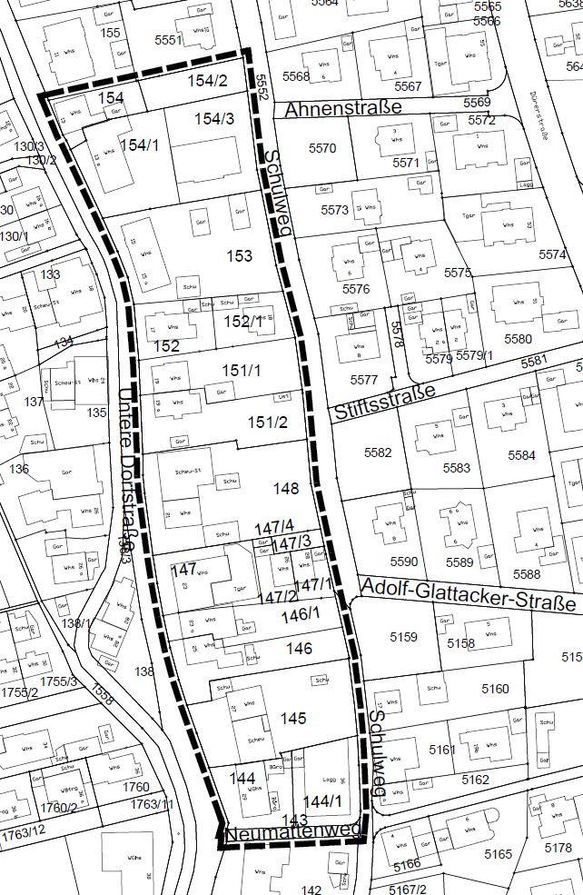 Abgrenzungsplan Untere Dorfstrasse