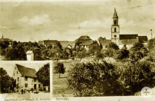 Ansichtskarte von Eichsel um 1920
