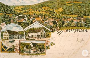 Ansichtskarte von Degerfelden (1900)