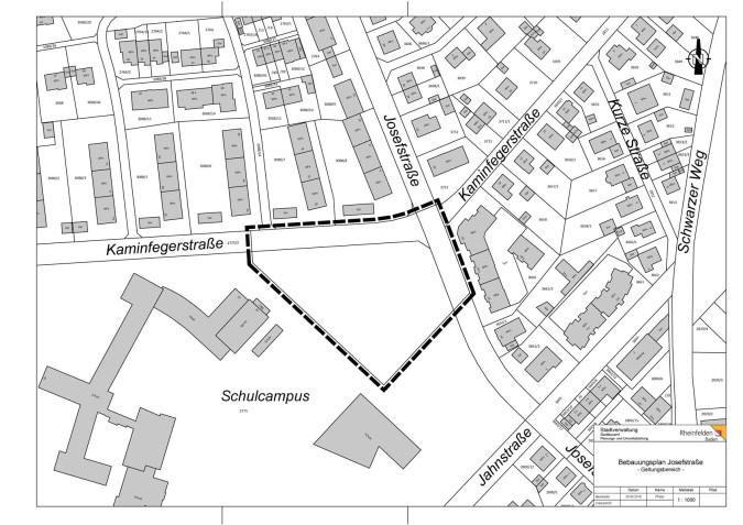 Bebauungsplan Josefstraße - Lageplan
