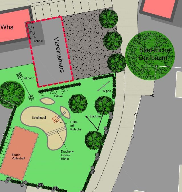 Plan Dorfplatz Adelhausen 2020