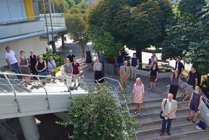 Oberbürgermeister Klaus Eberhardt freute sich über die Besucher aus Stuttgart, die sich in Rheinfelden mit Vertretern verschiedener Institutionen austauschten.