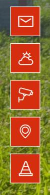 Kontakt, Wetter, Web-Cam, Lage und Baustellen