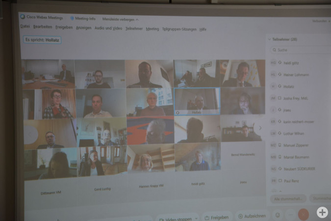 Digitales Treffen in prominenter Runde.