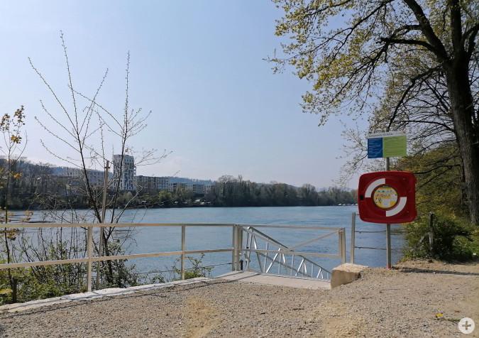 Neue Kanustation am Rhein