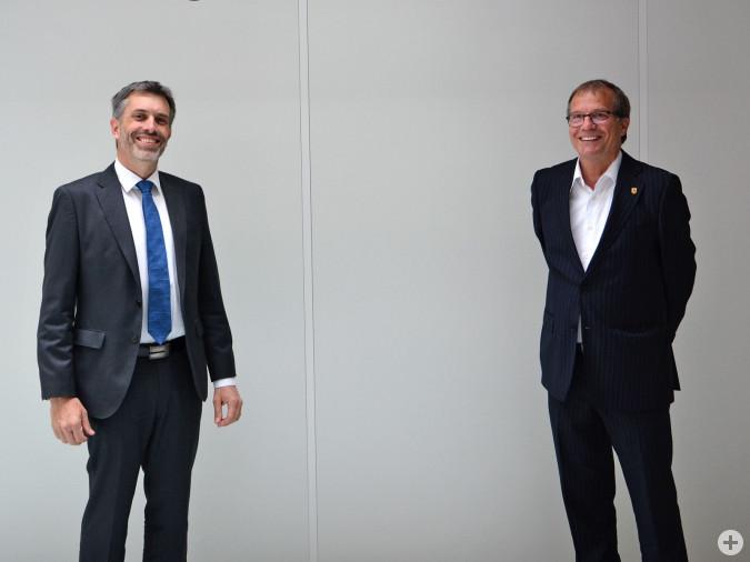 Ende April kam Eric Martinet, der neue CEO der Aluminium Rheinfelden, zu einem offiziellen Antrittsbesuch ins Rathaus.