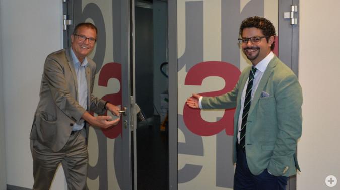 Die Kultur startet wieder durch: Stadtoberhaupt Klaus Eberhardt und Kulturamtsleiter Dario Rago laden zu einem bunten Programm ein.