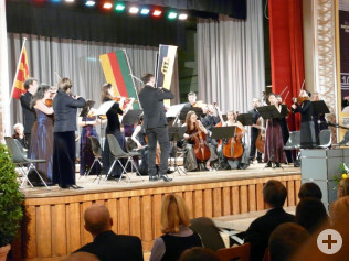 Das Capriccio Barockorchester fand bei den Gästen großes Gefallen.