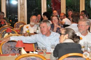 Einkehr im Landgasthof Maien in Eichsel; von links: Oberbürgermeister Eberhard Niethammer, Karin Reichert-Moser und Alfred Winkler