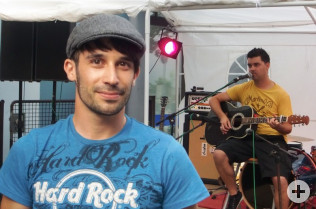 Carlos Lopes hat sich um die Bands gekümmert.