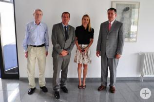 Firmengründer Prof. Dr.-Ing. Peter Osypka, Oberbürgermeister Klaus Eberhardt, Vorstand Dr. Nicola Osypka und Vorstand Achim Kitschmann.