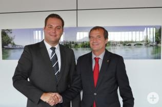 Felix Schreiner (links) und Klaus Eberhardt wollen sich gemeinsam für Rheinfelden (Baden) einsetzen.