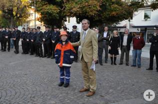 Oberbürgermeister Klaus Eberhardt und Lea Theis