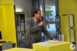 Oberbürgermeister Klaus Eberhardt bei der Eröffnungsveranstaltung für die Demenztage in Rheinfelden (Baden).