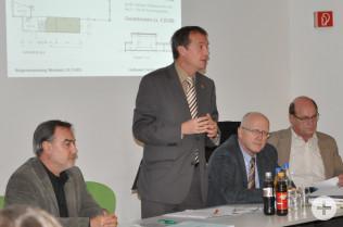 Rolf Herzog, Oberbürgermeister Klaus Eberhardt, Bürgermeister Rolf Karrer und Bernd Baumer