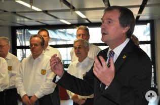 Oberbürgermeister Klaus Eberhardt bedankte sich bei allen städtischen Mitarbeitern für die gute Zusammenarbeit.
