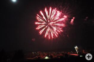 Das gemeinsame Feuerwerk der beiden Rheinfelden