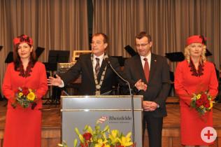 Oberbürgermeister Klaus Eberhardt und Stadtammann Franco Mazzi