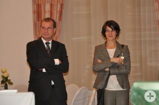 Oberbürgermeister Klaus Eberhardt und Ursula Philipps