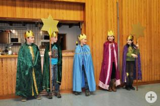 Die Sternsinger eröffneten den Neujahrsempfang.