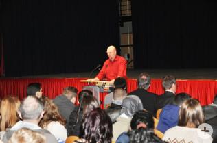 Michael Schwarz begrüßte die Schüler.
