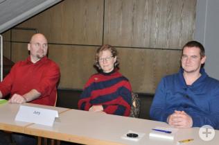 Michael Schwarz, Gaby Dolabdjian und Horatio Gollin bildeten die Jury.