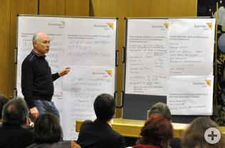 Dieter Leeb informierte das Plenum.