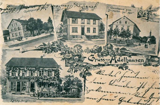 Gemalte Ansichtskarte um 1900